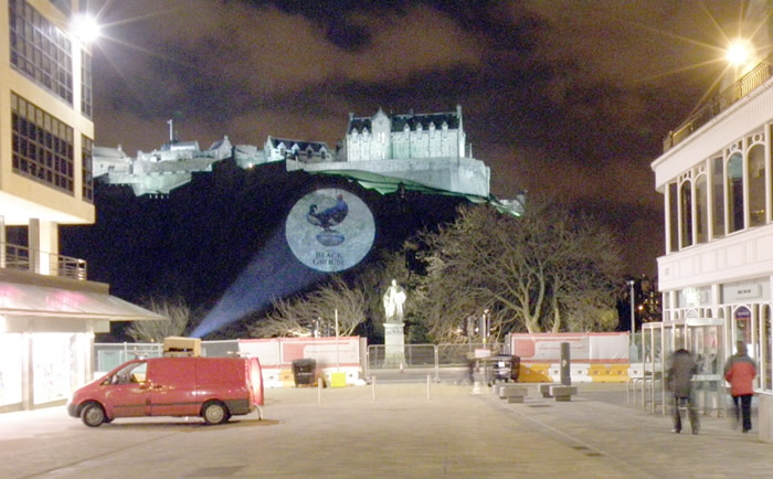 Projections on Edinburgh Castle in 2009