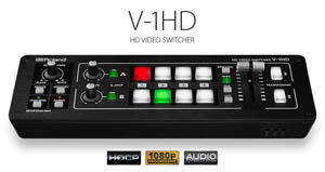 Roland V-1HD Compact HDMI multi-input video switcher for hire for sale